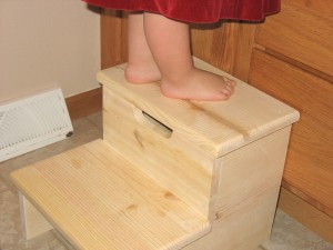 unfinished wood step stool kids
