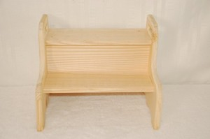 unfinished step stool toddler wooden