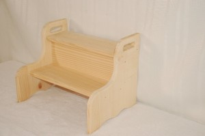 unfinished wooden step stool for kids
