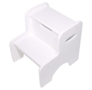 two step stool for toddlers white