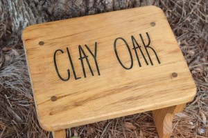 handmade personalized stepping stool