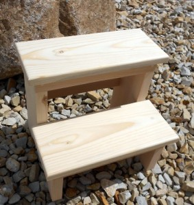 unfinished small step stool for kids