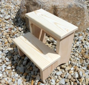 small wooden step stool for toddlers unfinished