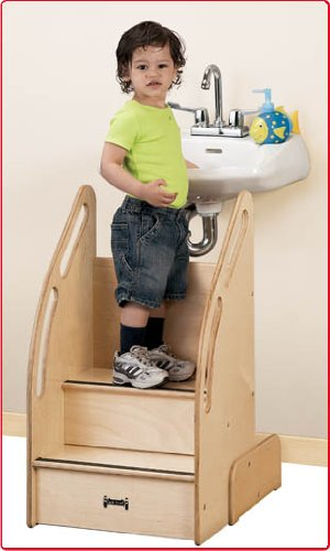 This one-of-a-kind step stool features rails with cut out hand holds on both sides for easy climbing smoothed edges and a lifetime warranty.  sc 1 st  TheSteppingStool.com & Step Stool for Toddlers to Reach Sink - TheSteppingStool.com islam-shia.org