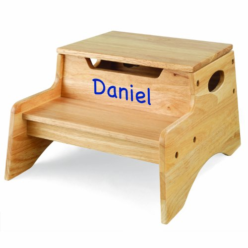 This attractive and sturdy step stool has the additional plus of storage in addition to the option of adding the childu0027s name. Dimensions are 14 inches wide ...  sc 1 st  TheSteppingStool.com & Personalized Step Stools for Toddlers - TheSteppingStool.com islam-shia.org