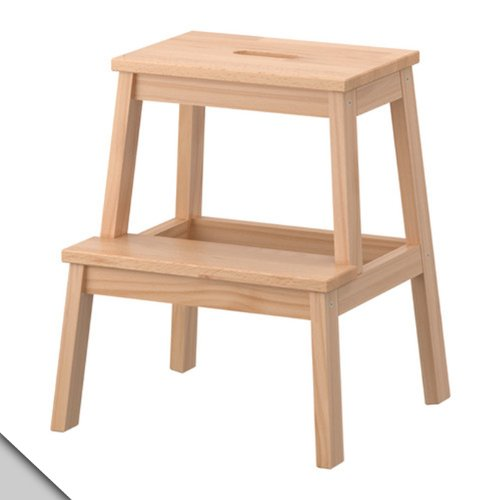 wooden step stools for the kitchen