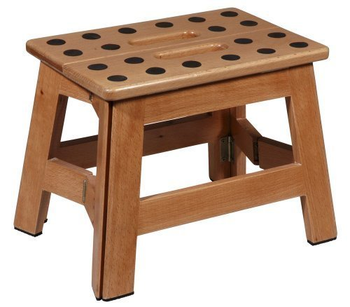 collapsible wooden step stools for the kitchen
