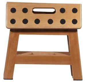 foldable wooden step stool for the kitchen
