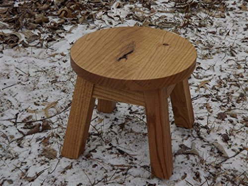 round wooden step stool