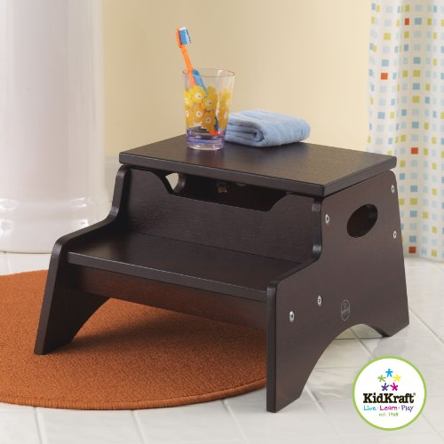 wooden step stool for kids